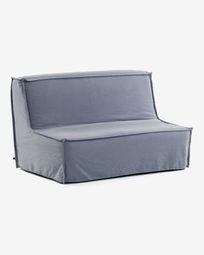 Καναπές-κρεβάτι Lyanna 140 εκ, μπλε
