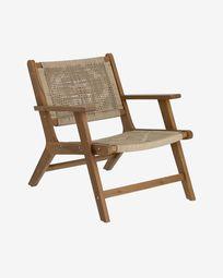Πολυθρόνα Geralda, ξύλο ακακίας σε σκούρο φινίρισμα FSC 100%