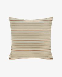 Sydelle striped beige cushion cover 60 x 60 cm