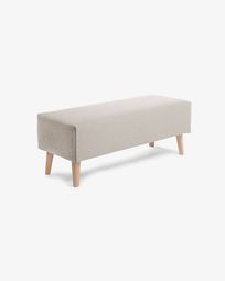 Beige Dyla bench 111 cm