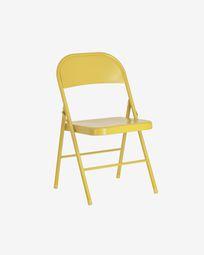 Πτυσσόμενη μεταλλική καρέκλα Aidana, μουστάρδα
