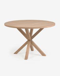 Πλήρες στρογγυλό τραπέζι Argo σε ατσάλινα πόδια από φυσικό μελαμίνη Ø 119 cm