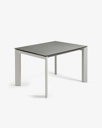 Extendable table Axis 120 (180) cm porcelain Hydra Lead finish gray legs