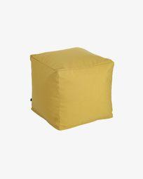 Squared 50 x 50 cm Mustard-yellow Nedra pouf