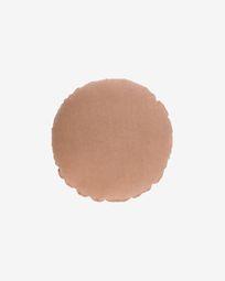 Tamanne 100% linen round cushion cover in terracotta Ø 45 cm