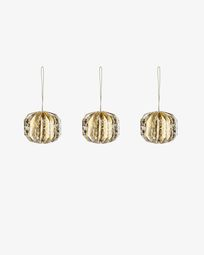 Wendy set of 3 Christmas gold baubles