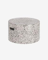 Τραπέζι σαλονιού Jenell, Ø 52 εκ, λευκό μωσαϊκό