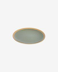 Tilia ceramic dessert plate in dark green