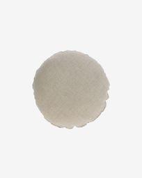 Tamanne 100% linen round cushion cover in beige Ø 45 cm