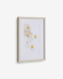 Πίνακας Leyla 30 x 40 εκ, τσάντα με λεμόνια