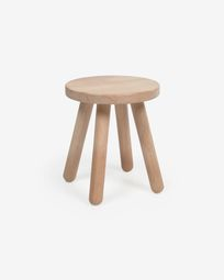Dilcia kids stool in solid rubber wood 31 cm high