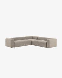 Γωνιακός καναπές 6θ Blok 320 x 320 εκ, μπεζ