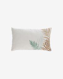 Κάλυμμα μαξιλαριού Amorela, 100% βαμβάκι, 30 x 50 εκ, πράσινα φύλλα