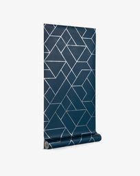 Gea 10 x 0,53 m blue and silver wallpaper FSC MIX Credit