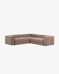 Γωνιακός καναπές 4θ Blok 290 x 290 εκ, ροζ