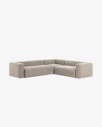 Γωνιακός καναπές 5θ Blok 320 x 290 εκ, μπεζ