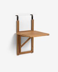 Πτυσσόμενο τραπέζι μπαλκονιού Amarillis,  40 x 42 εκ, ξύλο ακακίας FSC 100%