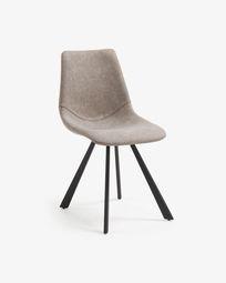 Καρέκλα Alve, γκρι-μπεζ