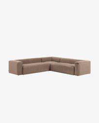Blok 6-seater corner sofa in pink 320 x 320 cm