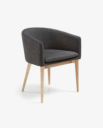 Καρέκλα Harlan, φυσικό και σκούρο γκρι