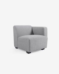 Legara grey seat with right-hand armrest 80 cm