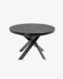 Ανοιγόμενο τραπέζι Vashti Ø 120 (160) εκ, πορσελάνη