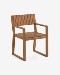 Emili solid acacia garden chair FSC 100%