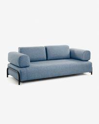3θ καναπές Compo 232 εκ, μπλε