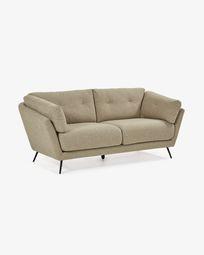 3θ καναπές Sahira 195 εκ, καφέ