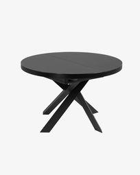 Ανοιγόμενο τραπέζι Vashti Ø 120 (160) εκ, γυαλί