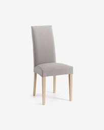 Καρέκλα Freda, ανοιχτό γκρι και φυσικό