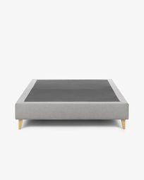 Bed base high Nikos 180 x 200 cm grey