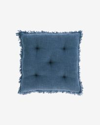 Brunela 100% cotton blue chair cushion 45 x 45 cm