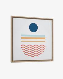 Πίνακας Gelsina 50 x 50 εκ, μπλε κύκλος