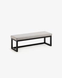 Wood black Loya bench 128 cm