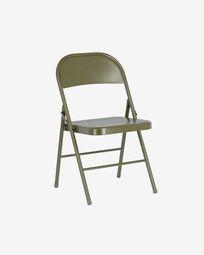 Πτυσσόμενη μεταλλική καρέκλα Aidana, σκούρο πράσινο
