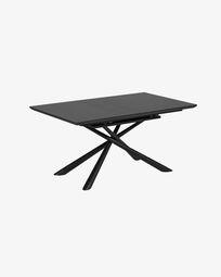 Ανοιγόμενο τραπέζι Theone 160 (210) x 90 εκ γυαλί