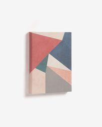 Πίνακας με τρίγωνα Kyrene 28 x 35 εκ, κόκκινο