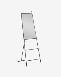 Μεταλλικός καθρέπτης πλήρους μήκους Norland 55 x 166 εκ, μαύρο
