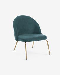 Turquoise velvet Ivonne armchair