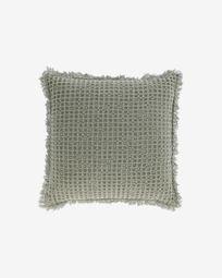 Κάλυμμα μαξιλαριού Shallow, 100% βαμβακερό, 45 x 45 εκ, πράσινο