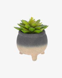 Τεχνητό φυτό Sedum σε τσιμεντένιο κασπώ