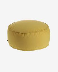Round Ø 70 cm Mustard-yellow Nedra pouf