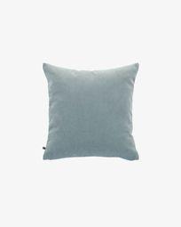 Turquoise corduroy Namie cushion cover 45 x 45 cm