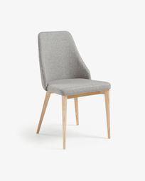 Καρέκλα Rosie, ανοιxτό γκρι φυσικό φινίρισμα