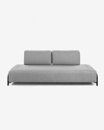 3θ πολυλειτουργικός καναπές Compo 232 εκ, ανοιχτό γκρι