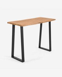 Ψηλό τραπέζι Alaia, μασίφ ξύλο ακακίας σε φυσικό φινίρισμα, 140 x 60 εκ