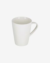 Pierina porcelain cup in white