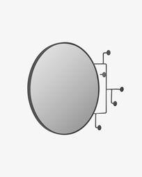 Καθρέπτης με κρεμάστες Vianela 70 x 51 εκ, μαύρο