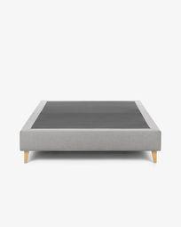 Bed base high Nikos 140 x 190 cm grey